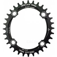 104bcd Oval Bike Chainring Chainwheel - Black