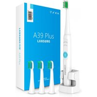 lansung-a39plus-sonic-electric-toothbrush-with-4pcs-heads-blue