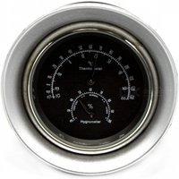 IZTOSS D2618 2-in-1 Car Quartz Watch Type Thermometer Hygrometer with