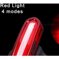 100lm Usb Rechargeable Cob Led Mountain Bike Tail Light Taillight Mtb Safety Warning Bicycle Rear Light Bicycle Lamp White