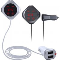 Quelima Bluetooth Car Kit with MP3 Player, FM Transmitter, Phone Charger