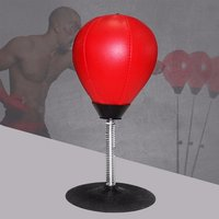 Easy Fixed Desk Boxing Punching Bag Speed Ball Bags Practical Speed Balls Stress Releasetraining Fitness Sports Red