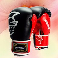 10-16 Oz Pretorian Muay Thai Leather Boxing Gloves Mma Grant Boxing Gloves White