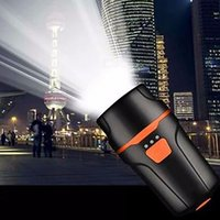 Portable Mini Usb Rechargeable Led Warning Light Flashlight Torch, Super Bright Bike Front Light Black