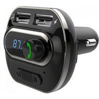 New T19 Car Bluetooth Speakerphone Car Charger Car Bluetooth MP3 Player Mobile Phone Charger Dual USB Ports