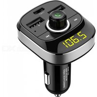HY-T19 Car MP3 Audio Player Bluetooth FM Transmitter Hands-Free Type-C USB Quick Charger
