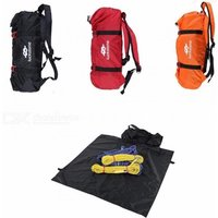 Outdoor Folding Nylon Rock Climbing Rope Bag Gear Equipment Holder Storage For Camping Climbing Caving Equipment Red