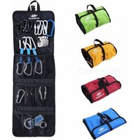 Hanging Outdoor Bag 420d Oxford Cloth Lightweight Foldable Zipper Mesh Pouches Rope Bags For Ice Rock Climbing Hook Red
