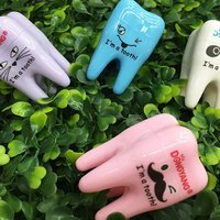 Cute Tooth Style Candy Color Manaul Pencil Sharpener Pencil Cutting Machine Stationery Office Accessories Random Color