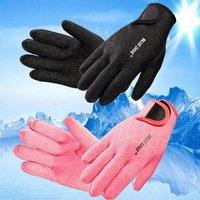 1.5mm Diving Swimming Gloves Neoprene With The Magic Stick Anti-slip Gloves For Winter Swimming Warm Black/s
