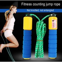 Bearing Speed Jump Rope Sweatband Handle Adjustable Professional Skipping Ropes With Counter Random Color