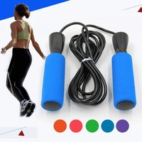 Fitness Jumping Rope Professional Training Adjustable Cable High Speed Skipping Ropes Rapid Ball Bearings Red