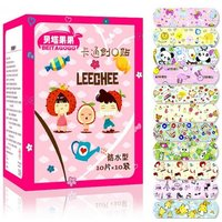 100pcs Waterproof Breathable Cute Cartoon Band Aid, Hemostasis Adhesive Bandages First Aid Emergency Kit For Kids Child Multi/s