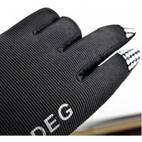 1 Pair Outdoor Sport Waterproof 3 Cut Finger Anti-slip Non-slip Fishing Gloves Black/m