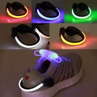 Outdoor Bike Cycling Led Luminous Shoe Clip Light, Night Safety Warning Led Bright Flash Light For Running Red
