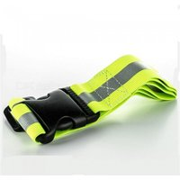 High Visibility Elastic Reflective Waist Support, Safety Security Belt For Night Running Walking Biking Driving Green