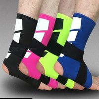 1pcs Ankle Support Adjustable Elastic Bands High Protect Sports Equipment Safety Running Basketball Ankle Brace Support Black/l