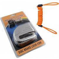 Disc Brakes Bicycle Small Anti-theft Alarm Lock With Rope - Silver