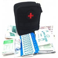 103pcs/pack Mini First Aid Pouch Medical Bag Kit, Outdoor Military Wilderness Hiking Survival Kit - Black