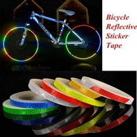 1cm*8m Reflective Stickers Motorcycle Bicycle Reflector Bike Cycling Security Wheel Rim Decal Tape Fluorescent Waterproof C