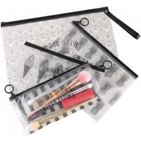 Cosmetic Bag Makeup Brush Tools Pencil Pen Case Bag Clear Makeup Pouch Zipper Toiletry Holder Storage Makeup Tool Kit 3 Sizes Type 1 S
