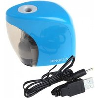 Electric Auto Pencil Sharpener Battery/USB Charge Powered for Graphite Colored Pencils With Blue Color Blue