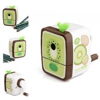 Walnut Hand Pencil Sharpener Stationery Pencil Sharpener For Office & School Supplies Accessories With Green Color Green