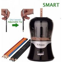 Adjustable Lead Thickness Automatic Electric Pencil Sharpener With Black And White Color For Optional Black