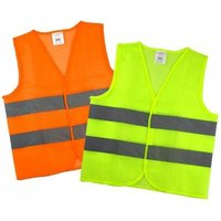Polyester Lightweight Thin Mesh Safety Vest Reflective Vest With Orange And Green Two Color For Option Xxl/yellow