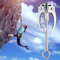 Outdoor Wilderness Survival Carabiner Stainless Steel Grappling Folding Three Paws Hook Ice Rock Mountain Climbing Gear Stainless Steel
