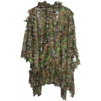 1.5m 3d Hunting Camouflage Ghillie With Cap Suit Clothes Jungle Cloak Poncho Camo Bionic Leaf For Sniper Photography Camouflage Suit