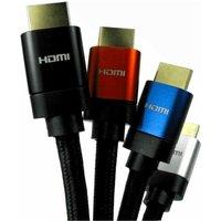 0.5m 8K HDMI Cable 28awg Copper Aluminium Hood Black Braided