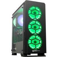 AlphaSync Gaming Desktop PC, AMD Ryzen 7 2700X, 16GB RAM, 1TB HDD, 240GB SSD M.2, NVIDIA GeForce RTX 3060Ti, WIFI, Windows 10 Home