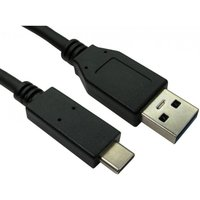 0.5m USB 3.1 Type C (M) to Type A (M) Cable - Black