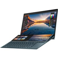 ASUS Zenbook Duo (Celestial Blue) Core i7 16GB 512GB SSD MX450 14andquot; Win10 Home  Dual Touchscreen Laptop (Ships with Stylus, Pen, Sleeve and Stand)