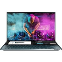 ASUS ZenBook Duo Core i7 16GB 512GB SSD RTX 2060 15.6andquot; 4K OLED Win10 Home Dual Screen Touchscreen Laptop- Celestial Blue (Ships with Stylus, Palm Rest and Stand)
