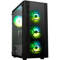 AlphaSync Gaming Desktop PC, AMD Ryzen 3 4300GE 3.5GHz, 8GB RAM, 500GB M.2 SSD, NVIDIA GeForce GTX 1050ti, WiFi, Windows 10 Home