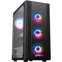AlphaSync Gaming Desktop PC, AMD Ryzen 5 3600 3.6GHz, 16GB RAM, 500GB SSD, RX 6700 XT, Windows 10 Home