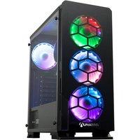 AlphaSync Gaming Desktop PC, AMD Ryzen 5 5600G 3.9GHz, 16GB RAM, 1TB HDD, 500GB M.2 NVMe SSD, Windows 10 Home