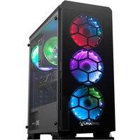 AlphaSync Gaming Desktop PC, AMD Ryzen 7 3700X 3.6GHz, 16GB RAM, 1TB HDD, 480GB SSD, RX 6600XT, Windows 10 Home