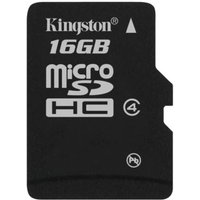 Kingston 16GB Class 4 MicroSDHC Memory Card