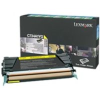 Lexmark C736H1YG Yellow Toner Cartridge