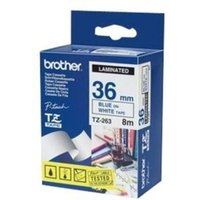 Brother TZe 263 Laminated tape- Blue on White