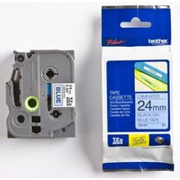 Brother TZe 551 Laminated tape- Gloss Black on Blue