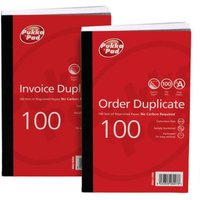 Pukka Pads 6907-FRM Pre-Printed Order Duplicate Book 210x130mm - 5 Pack