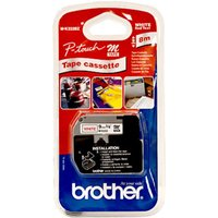 Brother MK 232BZ Plastic Labelling tape- Red on White