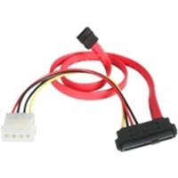 StarTech.com SAS 29 Pin to SATA Cable with LP4 Power - Serial ATA / SAS cable - 4 PIN internal power, 29 pin internal SAS (SFF-8