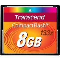 'Transcend 8gb 133x Compact Flash Card