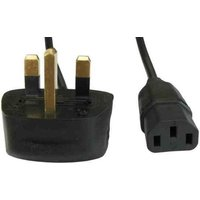 Cables Direct UK Kettle Lead - UK Plug - IEC Socket 1.8m