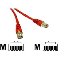 C2G,  SHIELD CAT5E MOULDED PATCH CBL RED, 1m